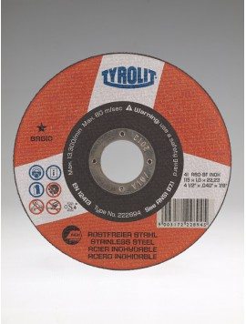 Řezný kotouč 125x1x22 A60-BF INOX BASIC